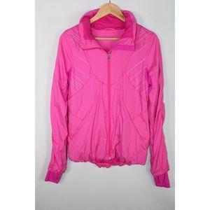 Lululemon Women's 6 Pink Microstripe Hustle Jacket